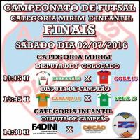 Final do Campeonato de Futsal 2016 ... Categoria Infantil e Mirim